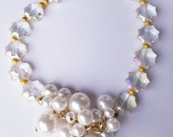 Pearly Gold Sparkle Necklace