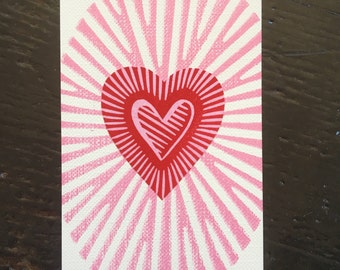 Heart Stamp ACEO