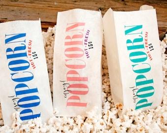 Popcorn Favor Bags - Wedding, Birthday, Carnival Popcorn Favors - Circus Wave Design  - 25 Popcorn Bags