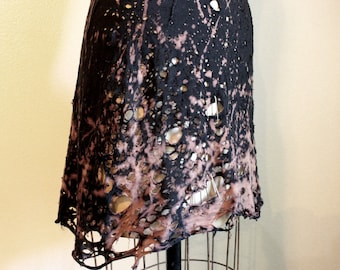Shredded and Tattered Apocolyptic Punk Mini Dress by Louise Black