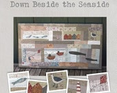 Down Beside the Seaside -  Pattern - A delightful wall hanging featuring seven unqiue appliqué blocks evoking blustery visits to the coast
