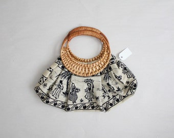 ethnic wool handbag / souvenir bag / 1960s purse