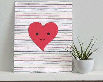 Happy Heart Print
