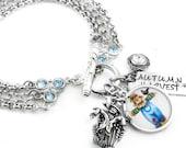 Scarecrow Jewelry - Harvest Jewelry - Autumn Bracelet - Sapphire Crystal Bracelet - Thanksgiving Jewelry