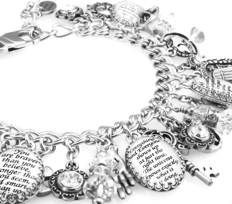 Charm Bracelet Inspirational Quotes Charm Bracelet
