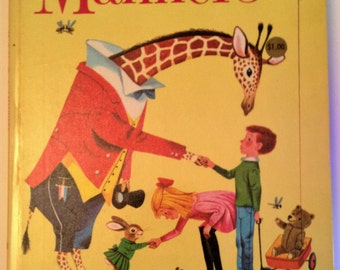 "Richard Scary Illustrated Manners Big Golden Book by Peggy Paris  1966 9-1/2"" x 12-3/4"""