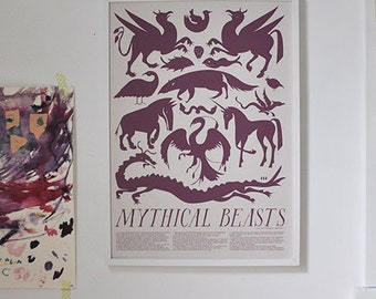 Mythical Beast Art Print Framed