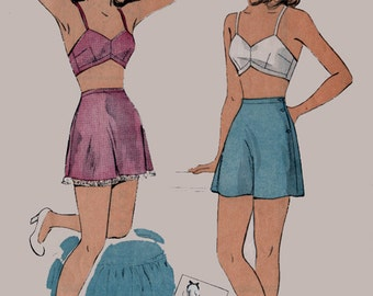 1940s Bra and Tap Pants DuBarry 5720 40s Pin Up Vintage Sewing Pattern Size 16 Bust 34