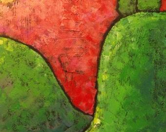 Majestic, Landscape, Painting, Acrylic Painting, 16x20, Canvas, Trees, Original Art