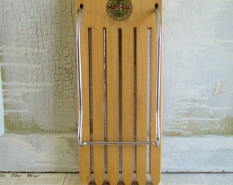 Vintage Mid Century Pants-Rak Pants Wooden Hanger
