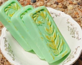 Goats Milk Soap - Citrus and Cilatro Scent - Fern Soap - Frond Soap - Man Soap - Woman Soap - Kitchen Soap - Green Soap - Herbal Scent