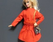 Barbie Doll Clothing, Red Skirt, Red top, Three pieces, Barbie clothing