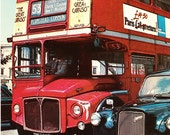 Vintage postcard, unused, double decker bus, London, 1979