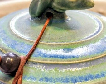 Ceramic Frog Wish Pot