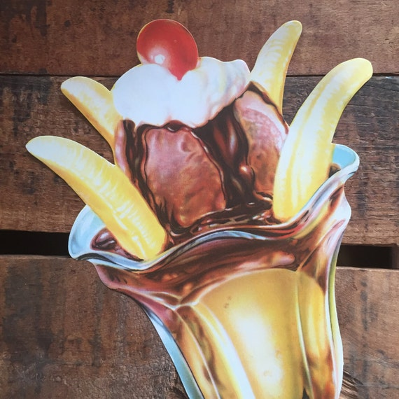 Classroom Wall Decoration Images ~ Vintage banana split ice cream sundae cut out die paper