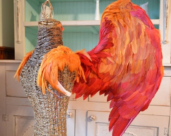 Feather Wings Folded Size Large Custom made in your colors