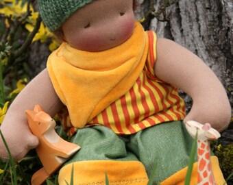 Waldorf Doll - OOAK Waldorfdoll - Companion Doll - 40 cm - Handmade - Artist made - Fabric Doll - Cloth Doll for Children