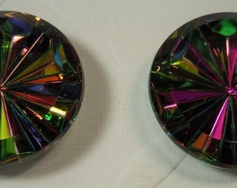 Vintage 24mm Starburst faceted stone