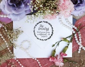 Self Inking Return Address Stamp, Wreath Decal Self Inking Cute Stamp, Stamp for newly weds, Curly Fun Font --5426