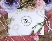 Self Inking Custom Return Address Mr. and Mrs. Rubber Stamp --3071
