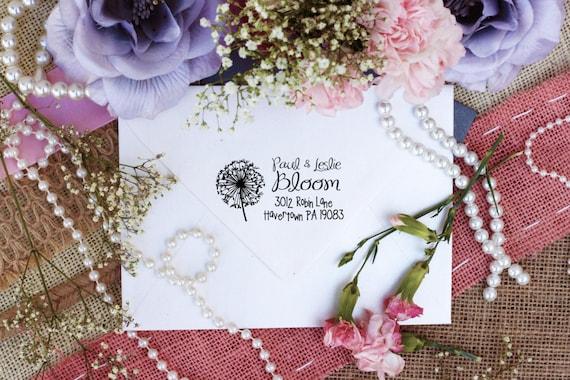 Self Inking Dandelion Return Address Rubber Stamp --2601