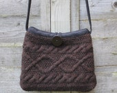 Reserved for Stacey Brown Wool Purse with Matching iPhone Case