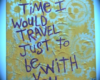 Time Travel Word Art Painting Canvas