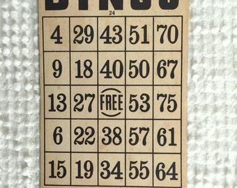 Vintage Set of 24 Vintage Bingo Cards - Milton Bradley Company - So many fun uses