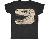 KIDS Trex - Tshirt Awesome Dino Retro Cool T-shirt Boy Girl Youth Toddler Children Tyrannosaurus Rex Dinosaur Fossil Paleontology Tee Shirt