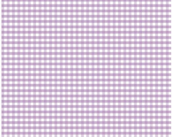 SALE fabric, 6 dollars/yard, Gingham fabric, Purple fabric, Lavender fabric by Riley Blake- 1/8th inch Mini Gingham, Free Shipping Available