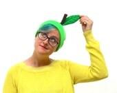 Green Apple Beanie - Easy Fruit Halloween Costume Hat