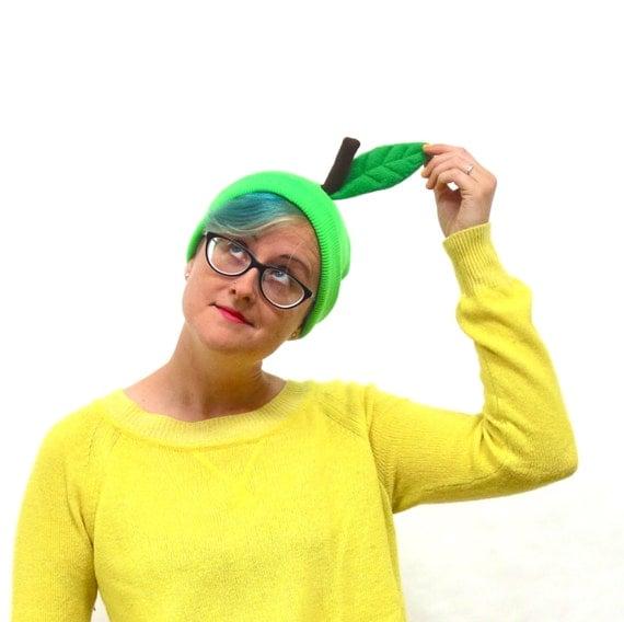 Green Apple Lime Beanie Easy Fruit Halloween Costume Hat