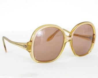 Elizabeth Arden 1970's Vintage Oversized Round Women's Designer Sunglasses