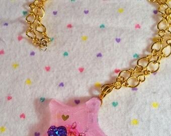 Sailor ChibiMoon anime necklace resin pendant Sailor Moon magical girl otaku gift gifts under 20