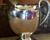 The Homan Manufacturing Co Silverplate Silver Plate Footed Water Drink Pitcher Stunning Design TYCAALAK