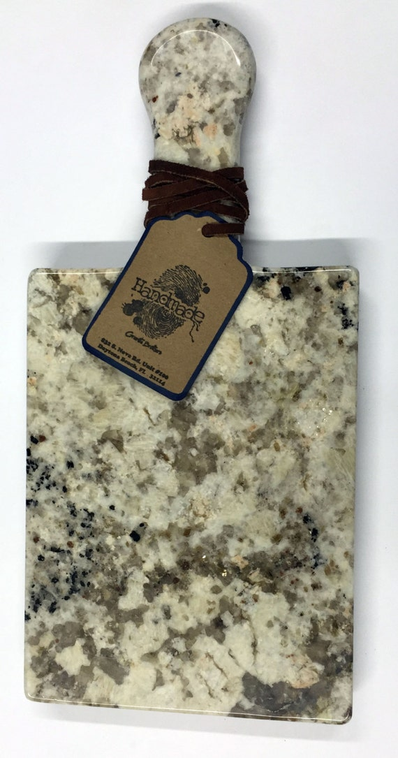 Granite Cheeseboard - Stone Color Caroline Summer #1 - Artisan Crafted Kitchen Accessory Serving Cheese Snack Tray Houseware