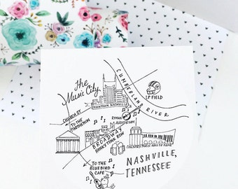 "Nashville, Tennessee 3"" Stickers"