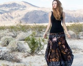 Maxi skirt, Adelaide, unique art pattern, one size, perfect Valentine gifts. Limited edition.