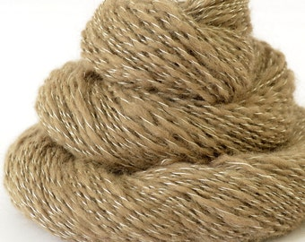 Handspun Yarn - Mink and Silk Yarn - Russian Spindle Spun Yarn - 1oz, 236yd, 18WPI, Lace