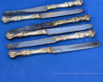 Vintage Silver Plated Hollow Handle Knife by Rogers Bros., International Silver 1904 - Set of 6