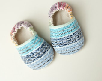 Girasol Fairytale Rainbow wrap scrap shoes or booties, baby shoes, babywearing shoes