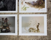 """Any Four (4) 8.5x11"""" Giclee Limited Edition Prints"""