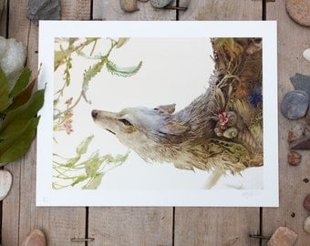 """A Feral Antiquity II - Original Giclee Limited Edition Print - 8.5x11"""""""