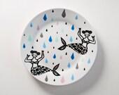 Mermaids plate