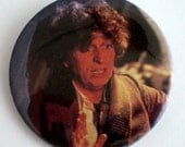 Vintage Doctor Who Button Fourth Doctor Tom Baker Pinback Button