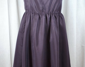 Vintage Kappi One Shoulder Plum Dress Long Gown - Off the Shoulder - NWT - Small to Medium