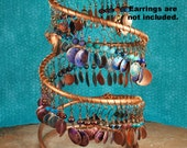 Copper Earring Holder, Earring Display,  XL Jewelry Display J300 by CC Design