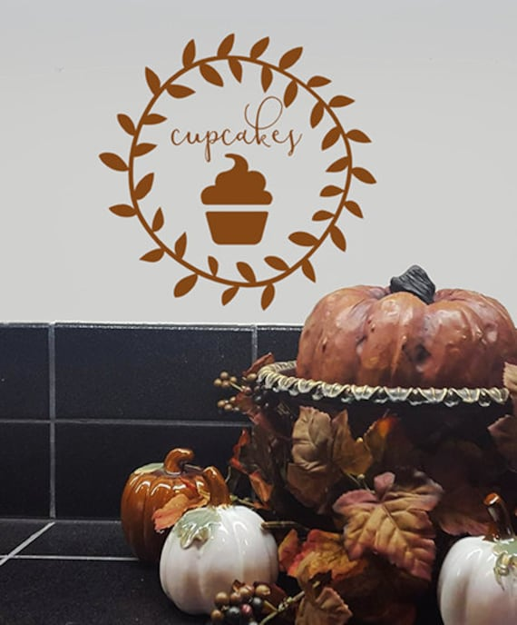 Cupcake Decal, Kitchen vinyl decal, bakery decor, kitchen vinyl wall decal, Kitchen Decor, Gifts for Bakers, Door Decal, Store Front Window