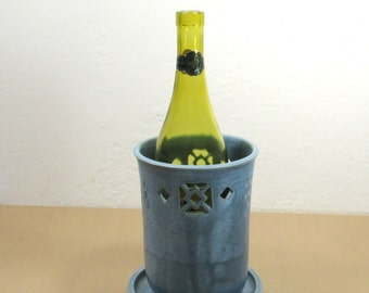 Wine Chiller - Flower Vase - Kitchen Utensil Holder - Versatile Vessel - Home and Kitchen Decor - Entertaining - Handmade Pottery
