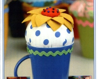 Cups and Needles Pin Cushion Pattern P158 by Vanilla House Designs
